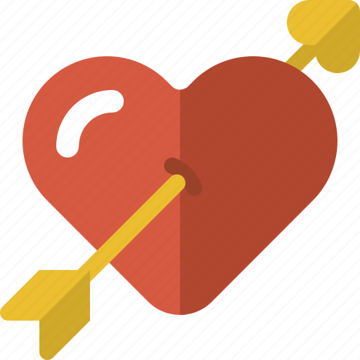Arrow, cupid, fall in love, falling in love, heart, heart arrow, valentines icon - Download on Iconfinder
