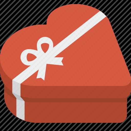 Box, chocolate box, gift, heart, heart box, valentine, valentines icon - Download on Iconfinder