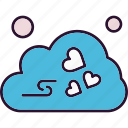 cloud, heart, valentine, weather