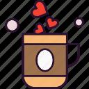 coffee, heart, tea, valentine
