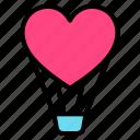 balloon, couple, heart, love, valentine