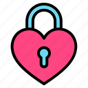 love, lock, heart, valentines, security