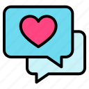 valentine, love, talk, heart, chat
