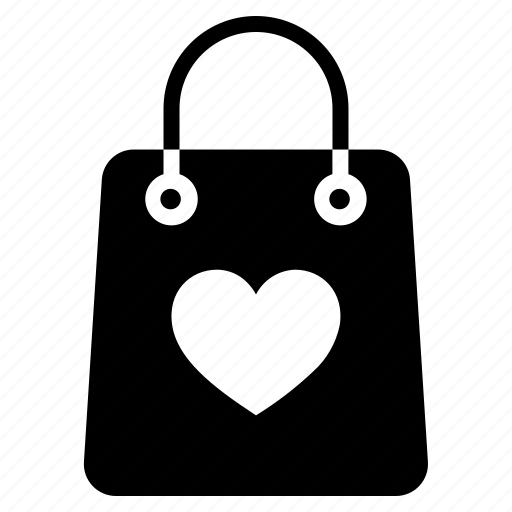 Bag, love, valentine, gift, heart icon - Download on Iconfinder