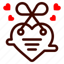 heart, card, letter, love, and, romance