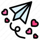 send, email, paper, plane, heart, love, romance