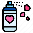 spray, paint, heart, love, and, romance