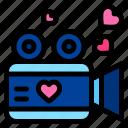video, maker, recording, heart, love, and, romance