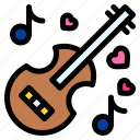 guitar, music, instrument, heart, love, and, romance