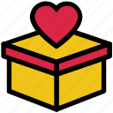 box, delivery, donation, heart, love, valentine's day