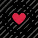 aim, heart, love, romance, target, valentine's day icon