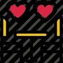 dinner, heart, love, restaurant, romance, valentine's day icon