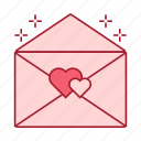 gift, heart, love, love letter, romance, valentine's day, wedding icon