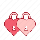 gift, heart, heart lock, lock, love, romance, wedding icon