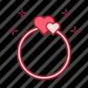 heart, jewelery, love, ring, present, romantic, wedding