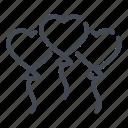 balloon, balloons, heart, love, romance, valentine icon