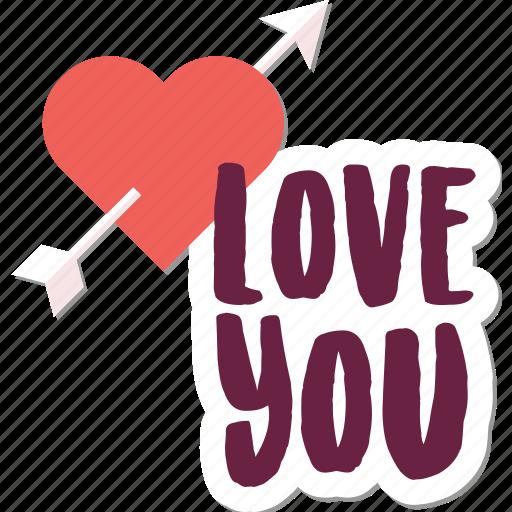 arrow, couple, day, heart, love, message, valentine icon