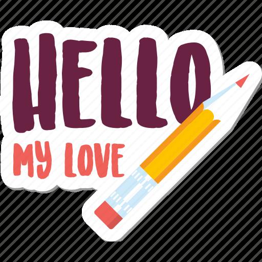 Day, hello, love, message, pen, valentine icon - Download on Iconfinder