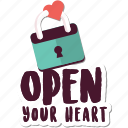 day, heart, lock, love, open, valentine