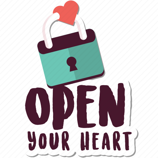 day, heart, lock, love, open, valentine icon