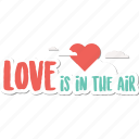 air, day, heart, holiday, love, valentine, wedding icon