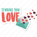 day, heart, love, message, sending, valentine