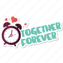 clock, day, forever, love, time, valentine icon