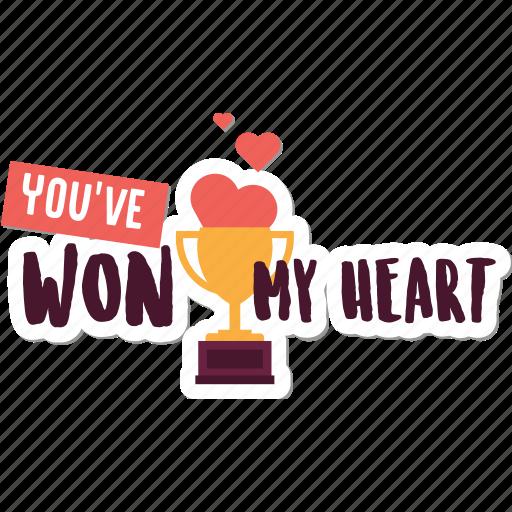 cup, day, heart, love, success, valentine, won icon