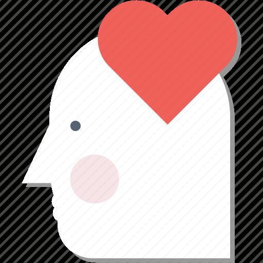 day, head, love, mind, thinking, valentine icon