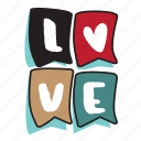 day, holiday, letter, love, sign, valentine icon