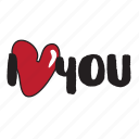 day, heart, holiday, i love you, love, message, valentine icon