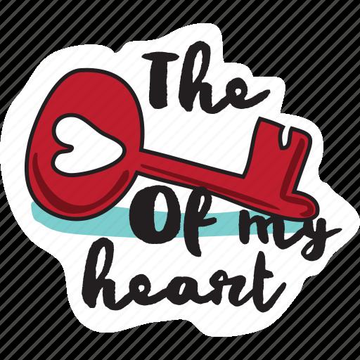 Day, heart, holiday, key, love, valentine, wedding icon - Download on Iconfinder