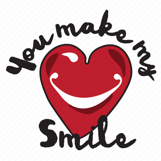day, heart, holiday, love, smile, valentine icon