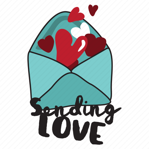 Heart, love, sending, valentine, letter, message, day icon