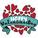 day, greetings, heart, holiday, love, message, valentine icon