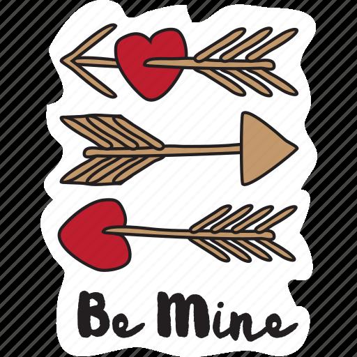 arrow, day, heart, love, valetine icon