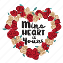 day, flower, heart, holiday, love, message, valentine icon
