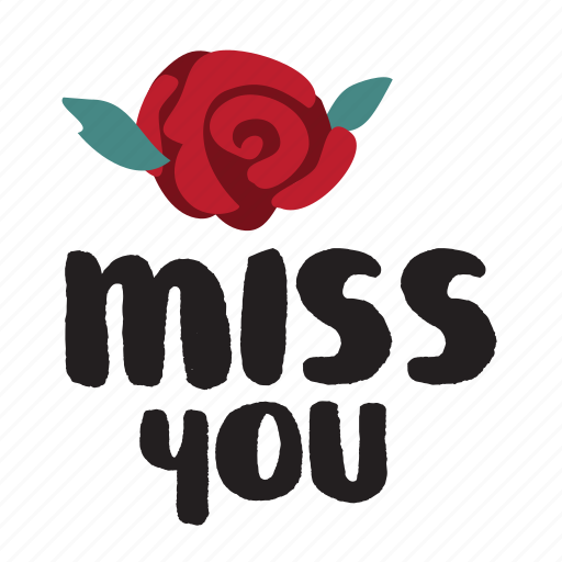day, flower, love, miss you, rose, valentine icon