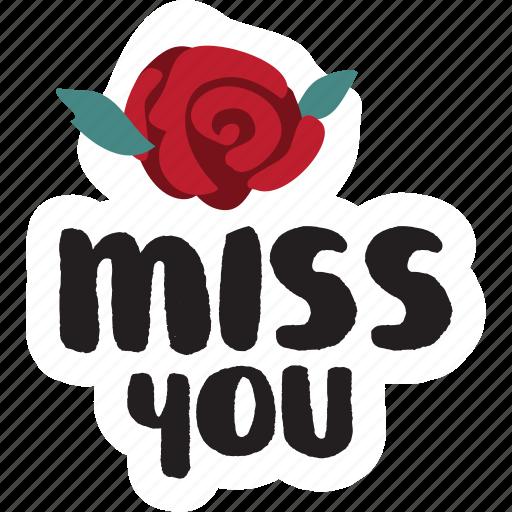 Day, flower, love, miss you, rose, valentine icon - Download on Iconfinder