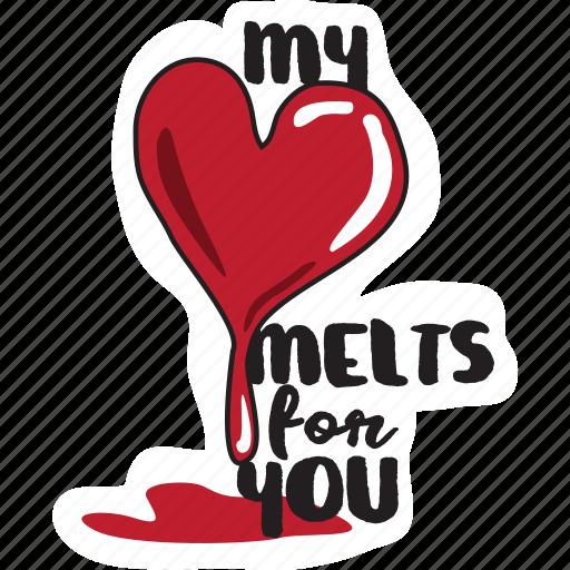 day, heart, love, melting, valentine, wedding icon