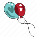 baloon, day, heart, holiday, love, valentine, wedding icon