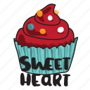 cake, day, food, love, sweet heart, valentine icon