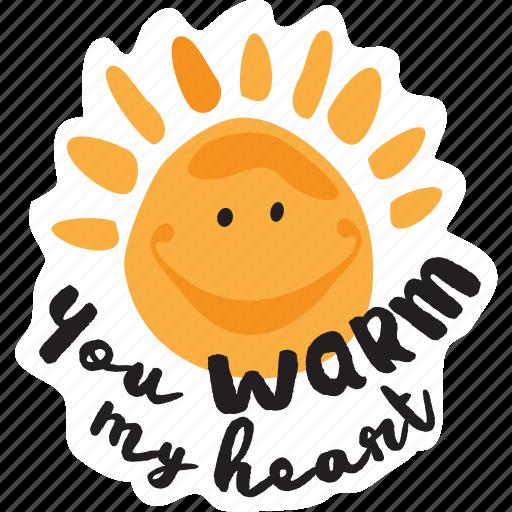 day, heart, love, sun, valentine, warm icon