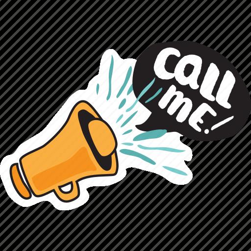 call, loudspeaker, megaphone icon