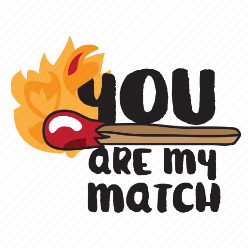 day, fire, holiday, love, match, valentine icon