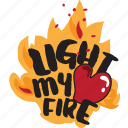 burning, day, fire, heart, holiday, love, valentine icon
