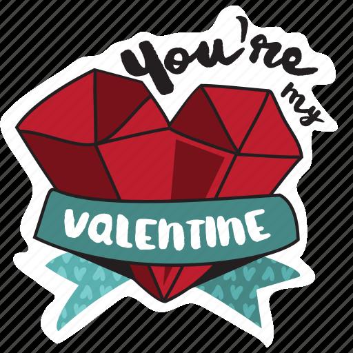day, diamond, heart, holiday, jewel, love, valentine icon