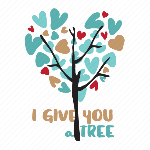 day, heart, holiday, love, tree, valentine icon