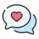 chat, heart, love, message, text, romance, valentine
