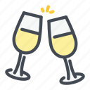 alcohol, champagne, drink, glass icon